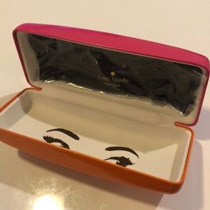 Kate Spade Eye Pink Two Tone Sunglasses Case New